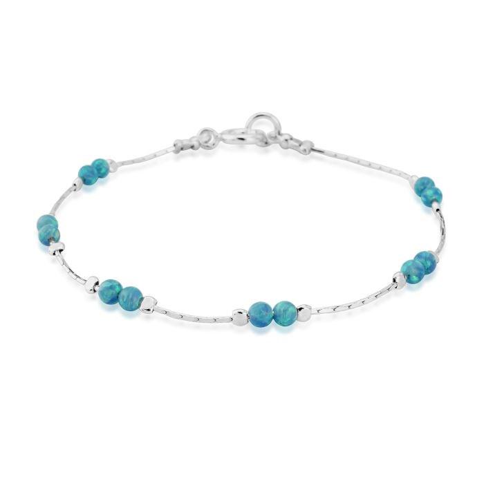 Lavan Sterling Silver & Blue Opal Bracelet - Medium CTwUkoTTH