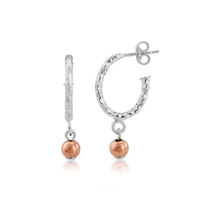 Lavan Gold & Silver Hoop Earrings 2qFBh