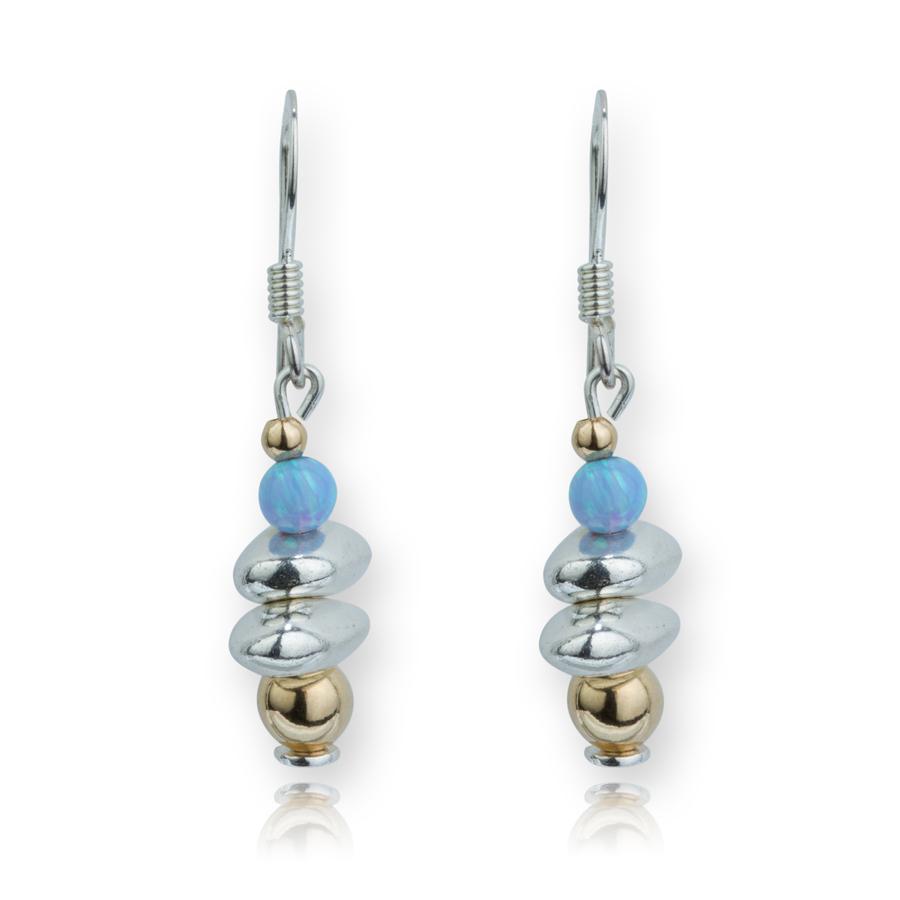 Lavan Gold & Silver Silver Nugget Opal Drop Earrings 0XJsqj6JoW