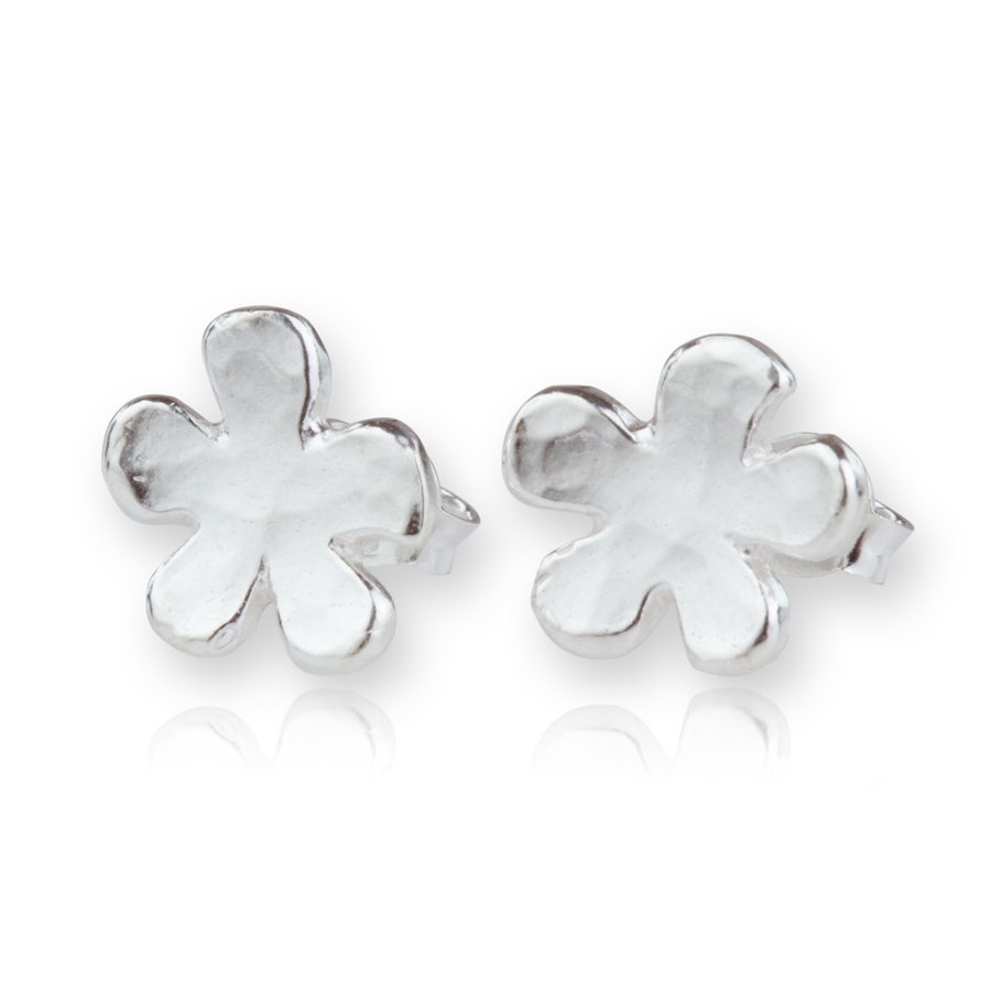 7f76dcd72 Hammered Silver Daisy Earrings | Lavan Designer Jewellery
