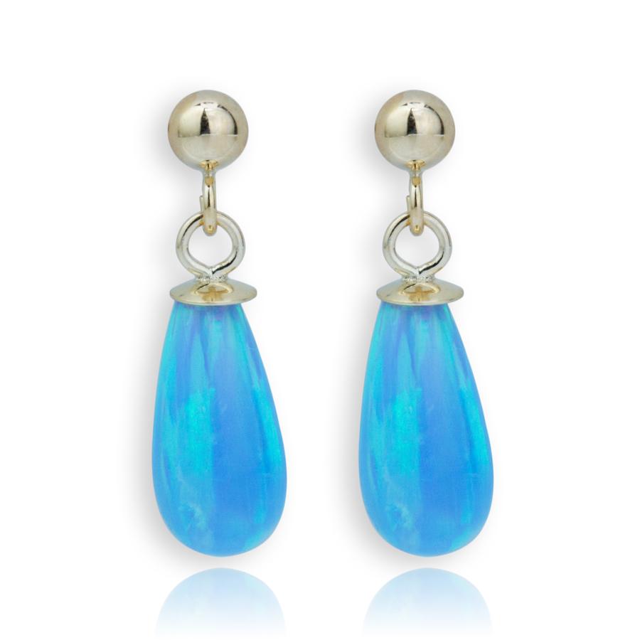 Lavan Blue Opal Teardrop Earrings luznz