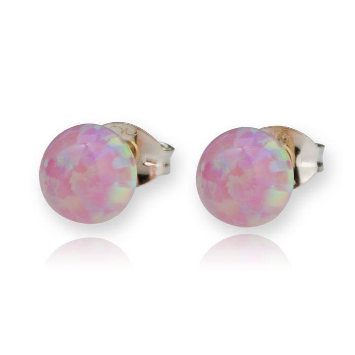 Lavan 9kt Gold & Purple Opal Stud Earrings U05l7d2