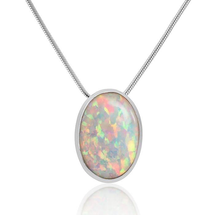 Silver white opal pendant lavan designer jewellery silver white opal pendant image 1 aloadofball Gallery