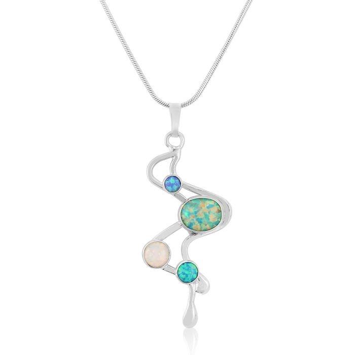 Multistone opal pendant aloadofball Gallery