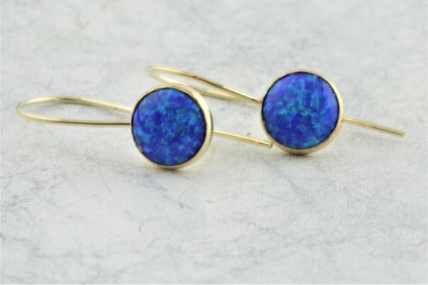 Blue Opal Drop Earrings | Image 1