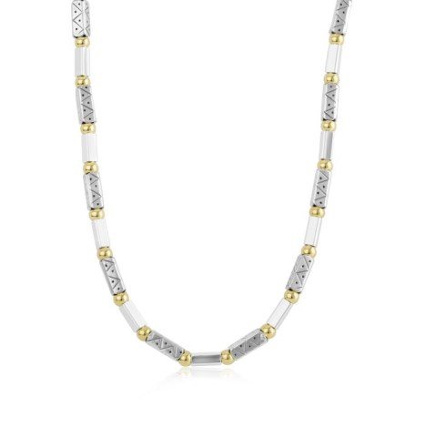 Gold & Silver Ethnic Necklace | Image 1