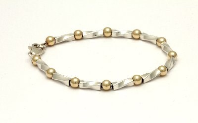 Gold and Silver Twist Bracelet  | Image 1