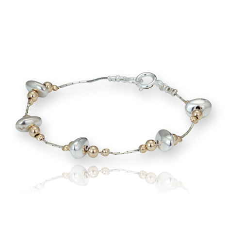 Gold and Silver Nugget Bracelet | Image 1