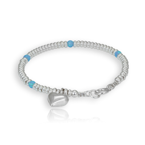 Silver and Opal Bracelet WAS £98 NOW £75 | Image 1