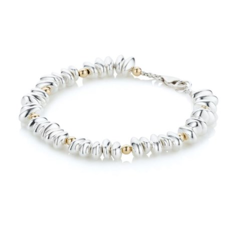 Gold and Silver Pebble Bracelet | Image 1