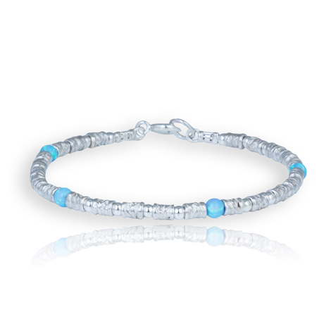 Sterling Silver and Opal Bracelet | Image 1