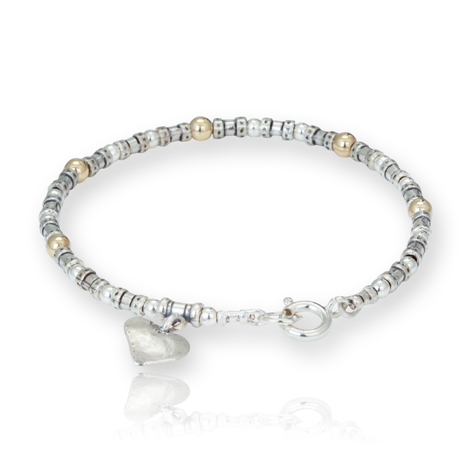 Gold and Silver Heart Bracelet | Image 1