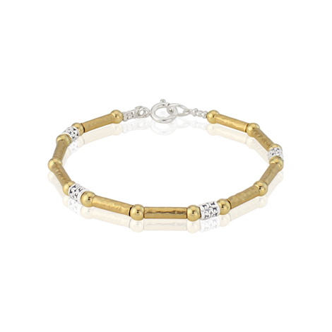 Gold and Silver Three Colour Bracelet | Image 1