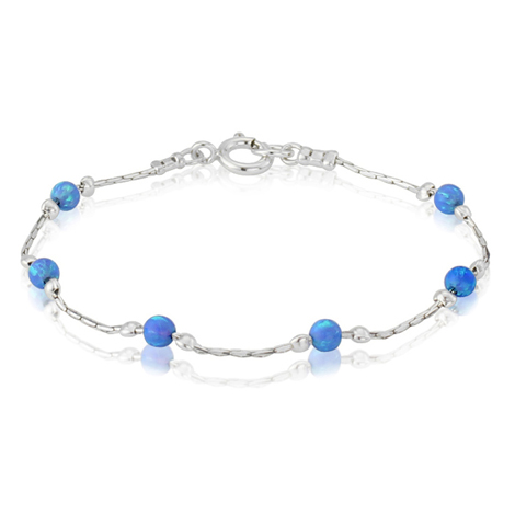 Blue Opal and Silver Bracelet | Image 1