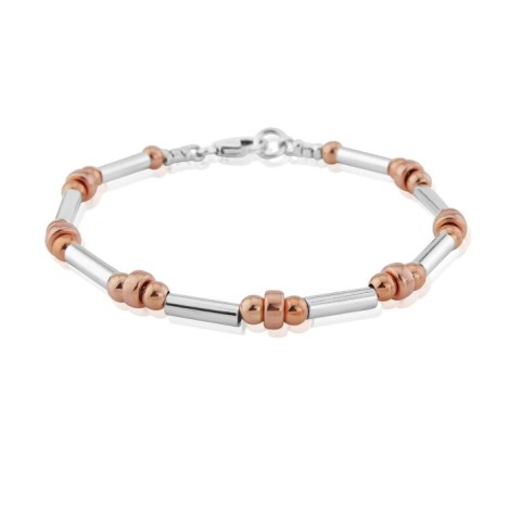 Silver and Rose Gold Bracelet | Image 1