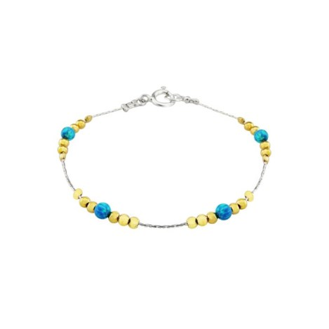 Aqua Opal Gold and Silver Bracelet | Image 1