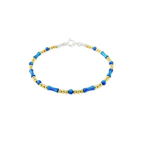 Blue Opal Gold and Silver Bracelet | Image 1