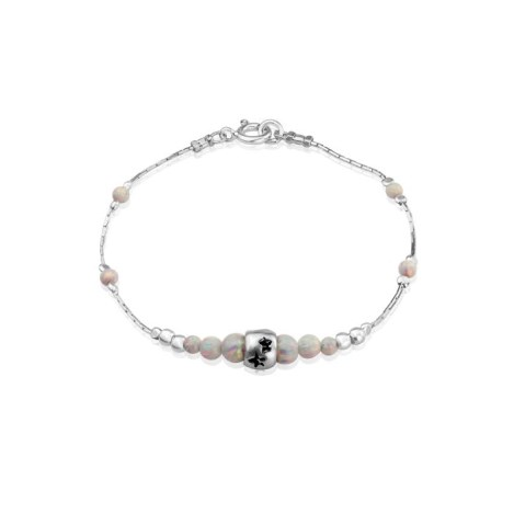 White Opal and Silver Star Bracelet | Image 1