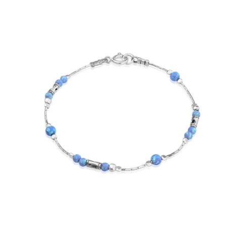 Silver and Blue Opal Bracelet | Image 1