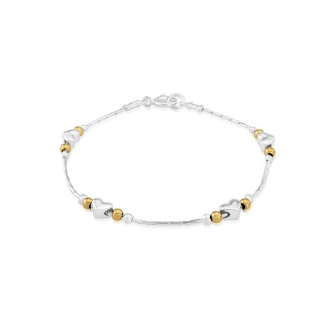Silver and Gold Heart Bracelet | Image 1