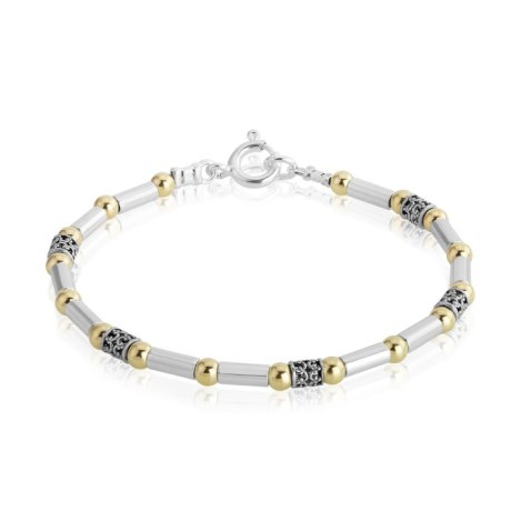 Gold and Silver Beaded Bracelet | Image 1
