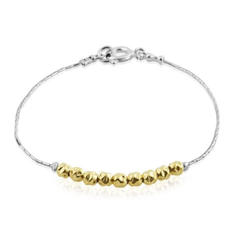 Hammered Gold Beaded Bracelet | Image 1