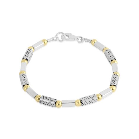 Gold and Silver Pattern Bracelet  | Image 1