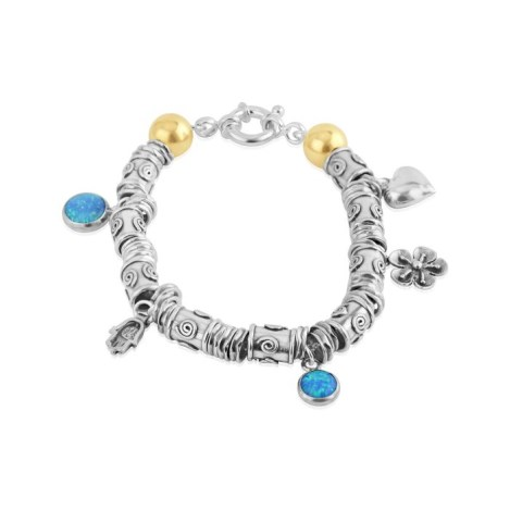 Gold and Silver Opal Bracelet | Image 1