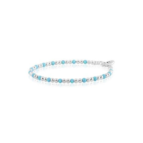 Silver and opal beaded bracelet | Image 1