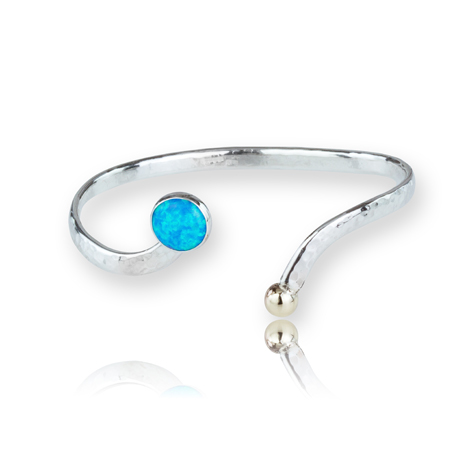 Gold and Silver Opal Bangle | Image 1