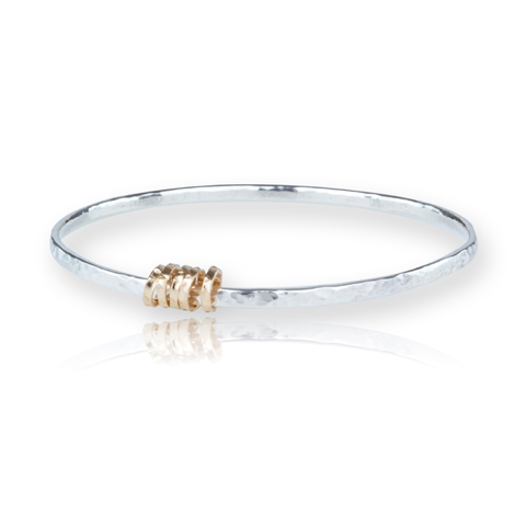 Rose Gold and Sterling Silver Ring Bangle | Image 1