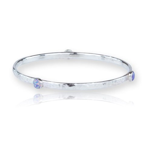 Purple Opal Bangle set with 4mm stones | Image 1