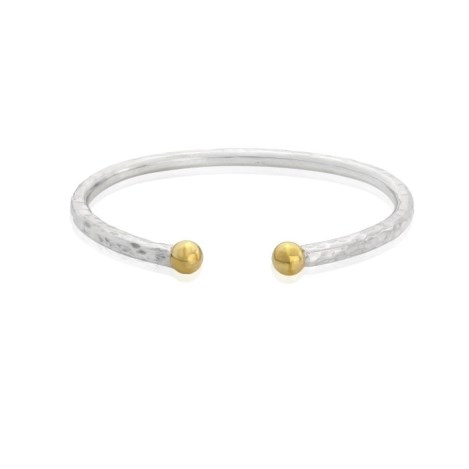9ct Gold and Silver Medium Torque Bangle | Image 1