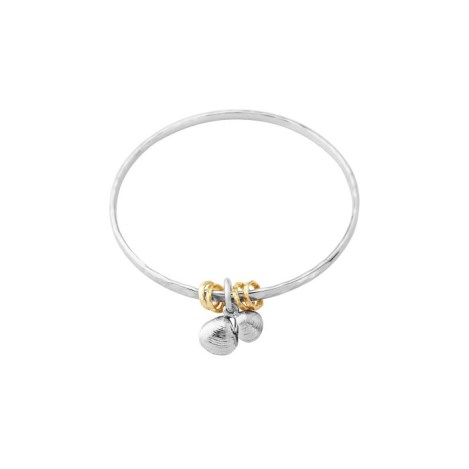 Sterling Silver and Gold Ring Bangle | Image 1