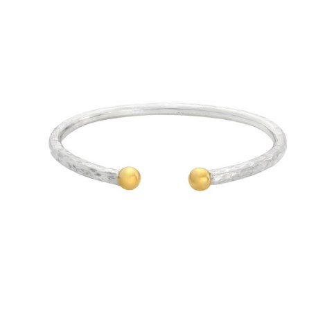 9ct Gold and Silver Heavy Torque Bangle | Image 1