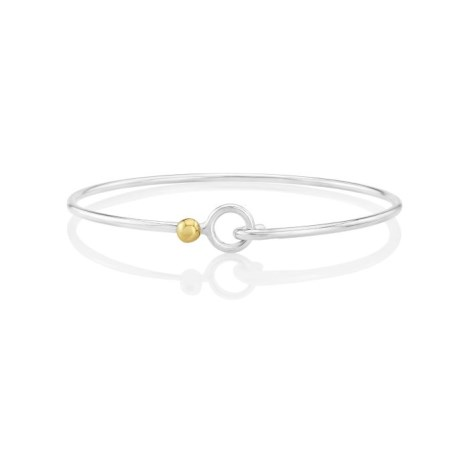 Sterling Silver and 9ct Gold Adjustable Bangle | Image 1