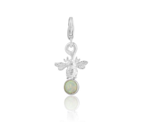 White Opal Bee Charm | Image 1
