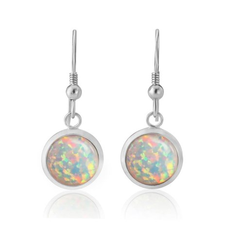 White Opal Drop Earrings | Image 1