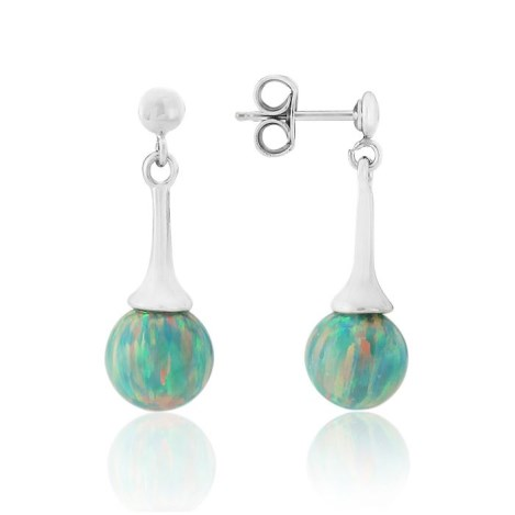 Silver Opal Drop Earrings | Image 1