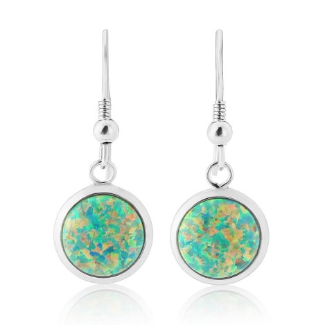 10mm Opal Drop Earrings | Image 1