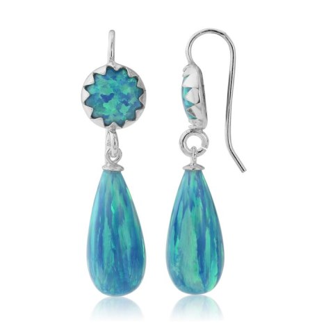 Aqua Opal Drop Earrings | Image 1