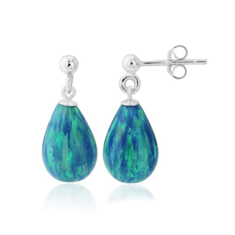 Aqua Opal Teardrop Earrings | Image 1