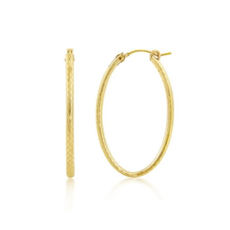 14ct Gold Filled patterned hoop Earrings | Image 1