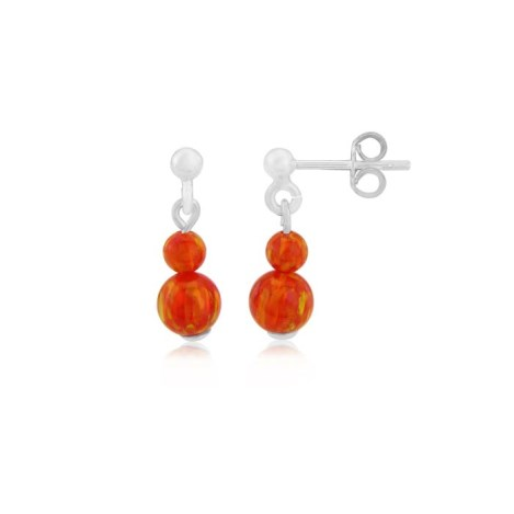 Orange Opal Earrings | Image 1