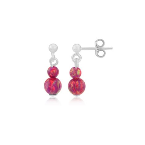 Red Opal Earrings | Image 1