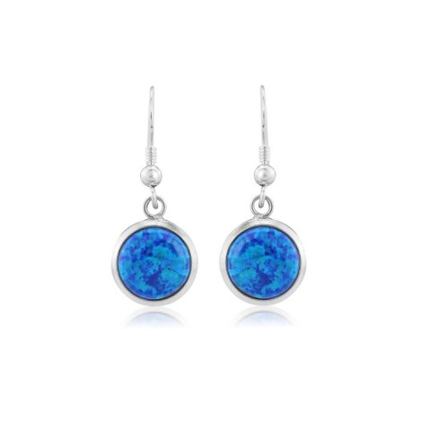 8mm Blue Opal Drop Earrings | Image 1