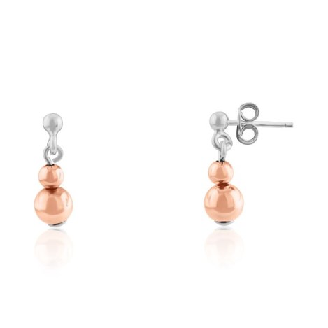 Silver and Rose Gold Earrings | Image 1