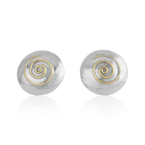 Gold and Silver Stud Earrings | Image 1