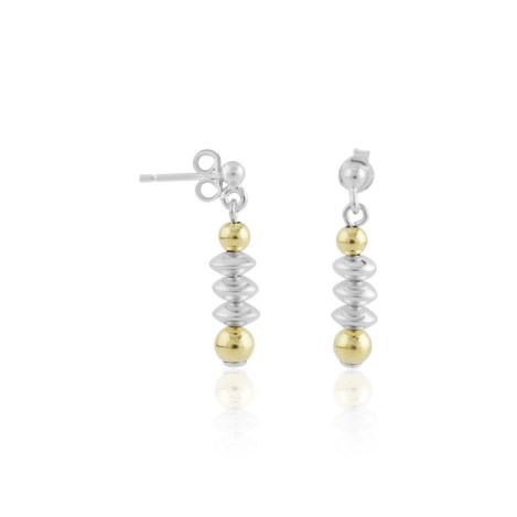 Gold and silver drop earrings | Image 1
