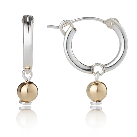 Gold and Silver Hoop Earrings | Image 1